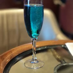 Crown and Anchor event... Champagne with Blue Curaco