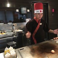 Teppanyaki hibachi grill fun!