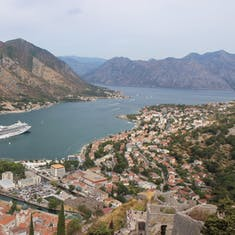 Kotor, Montenegro - Hiking the city walls in Kotor