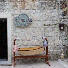 Split, Croatia - Wine bar in Trogir, Croatia