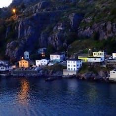 Night View Departing St John's Newfoundland