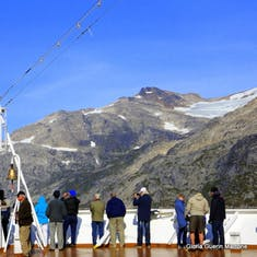 Cruising Prince Christian Sound - Bow of the Ship- Deck 4