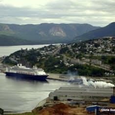 Corner Brook, Newfoundland - Ship in Port