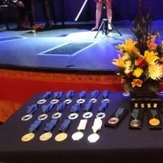 Table of Medallions Presented at the Ceremony