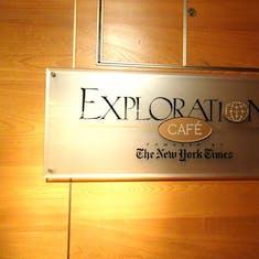 Exploration Cafe Signage