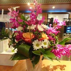 Floral Display - Exploration Cafe