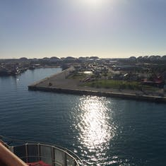 Sights of Freeport from the balcony