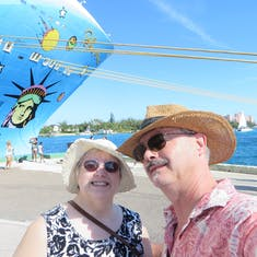 Selfie at port