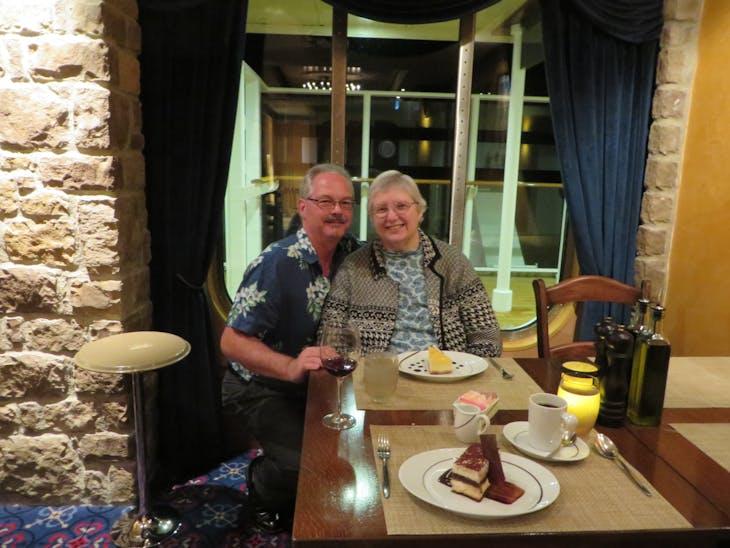 Diner at La Cucina - Norwegian Breakaway
