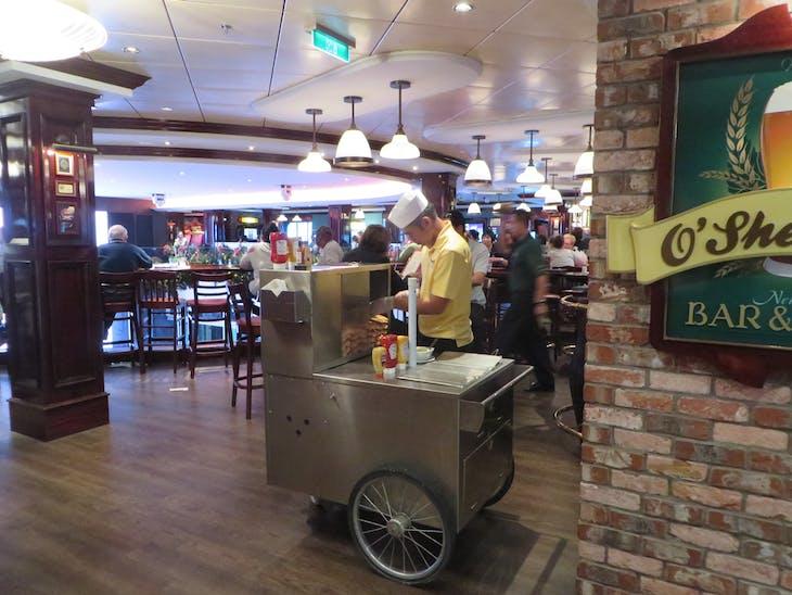 Hotdog cart outside of O'Sheehans - Norwegian Breakaway