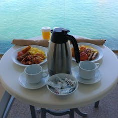 Breakfast on the Balcony - Room Service