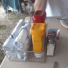 Items on each table