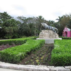 Near the Entrance to Mayan gardens
