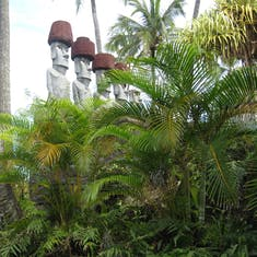 Honolulu, Oahu - Easter Island exhibit at Polynesian Cultural Center