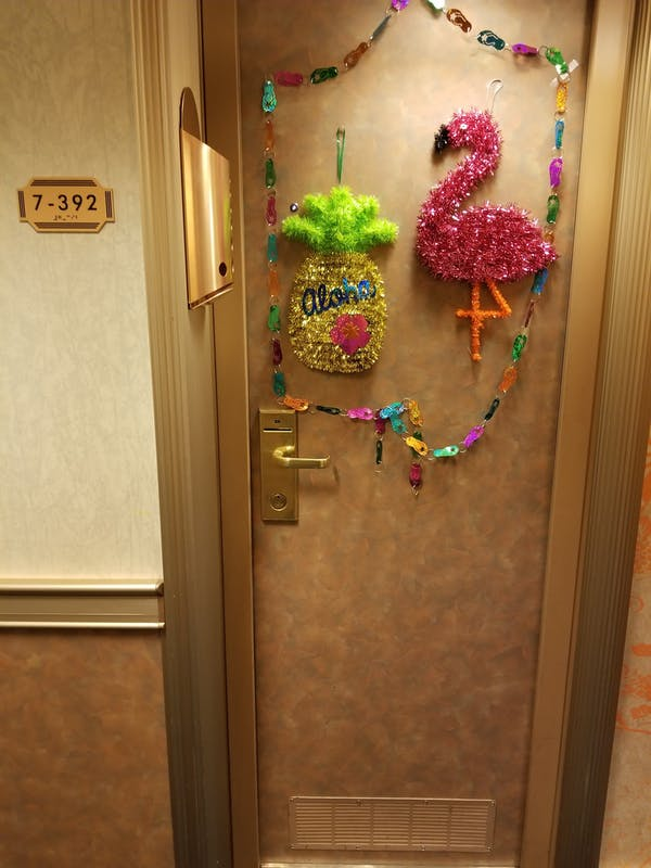 Door decorations - Carnival Glory