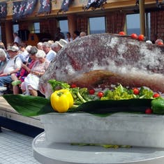 King Neptune Ceremony  Kiss the Fish