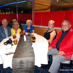 Dakar, Senegal - Our table at our group's dinner in the Canaletto Restaurant: