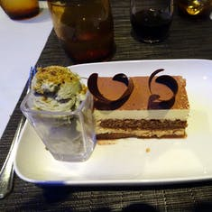 San Juan, Puerto Rico - Dessert in the Canaletto - Tiramisu