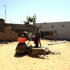 Dakar, Senegal - Outdoor center cooking area in Falani Village