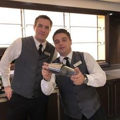 Awesome bartenders in Torshavn Lounge that taught our Mixology class