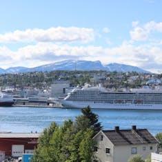 Tromso, Norway - Viking Sky docked in Tromsø, Norway