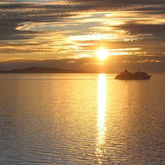 Tromso, Norway - The midnight sun - I took this just after midnight