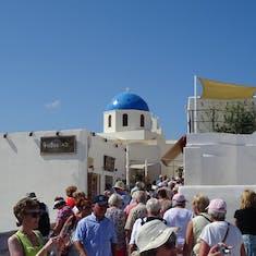 A busy Santorini