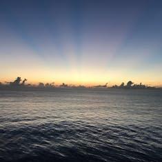 Sunrise over Coco Cay