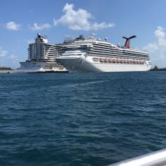 Nassau, Bahamas - Docked next to a Carnival ship