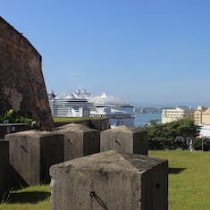 San Juan, Puerto Rico - View of the ships from the fort