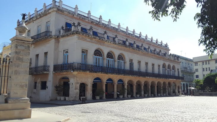 HAVANA, CUBA - Old Spanish architecture like this is everywhere.