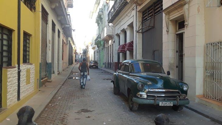 HAVANA, CUBA - A great street view.