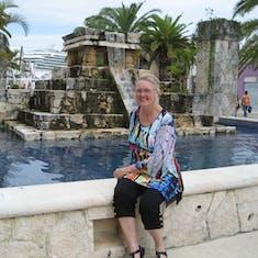 Cozumel, Mexico - fountainin shopping plaza