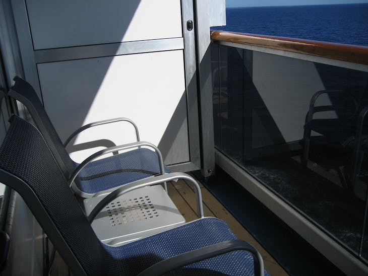 our balcony - Carnival Glory