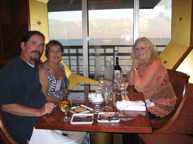 Dining with friends - Carnival Glory