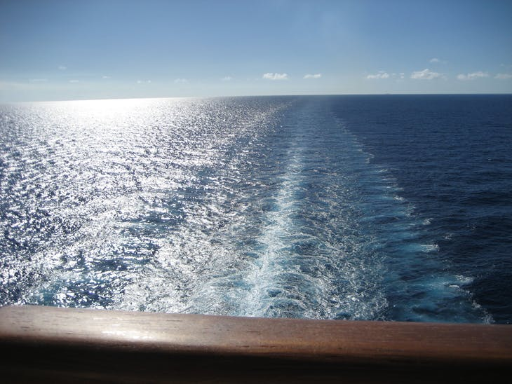 The always beautiful ship's wake - Carnival Glory