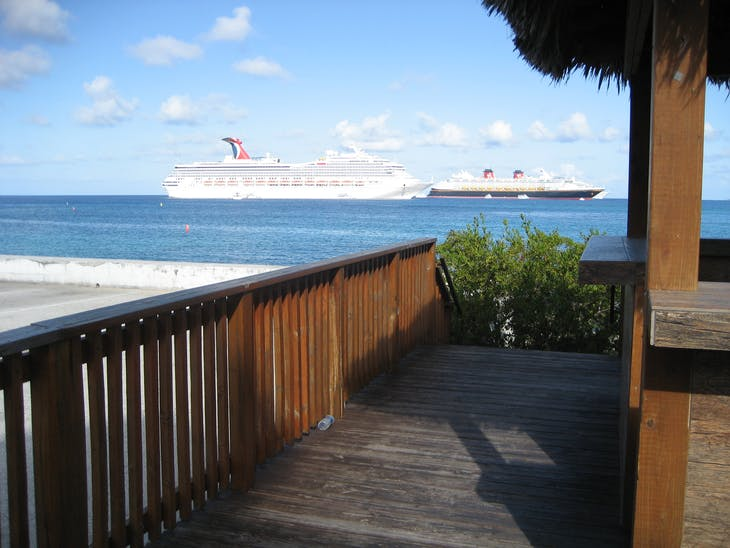 George Town, Grand Cayman - Glory and Disney from shore