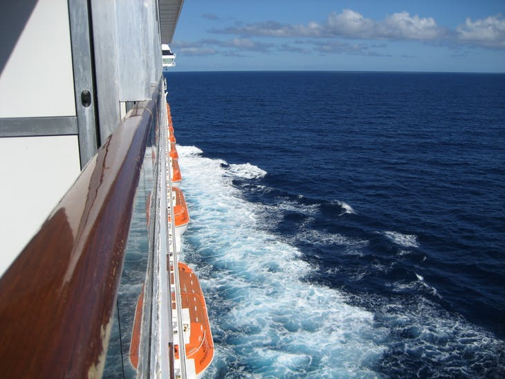 View from our balcony - Carnival Glory