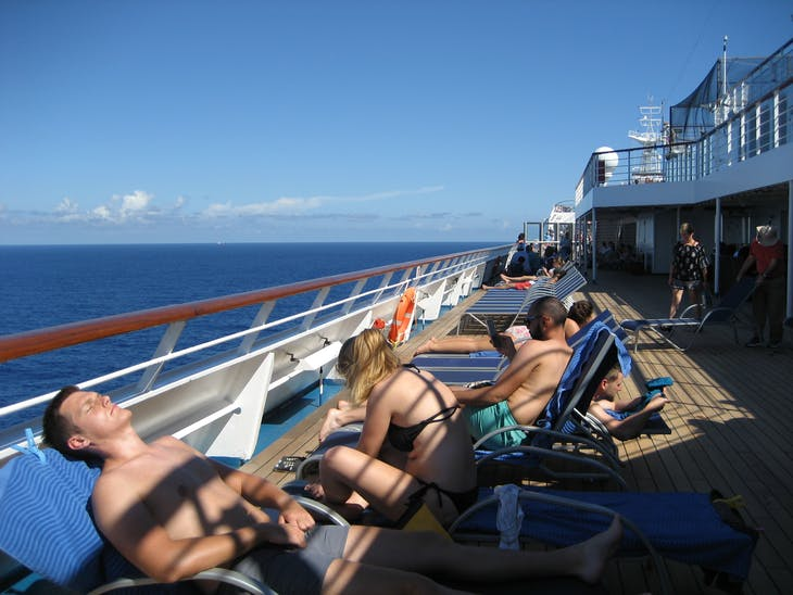 Relaxing on deck 10 - Carnival Glory