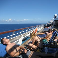 Relaxing on deck 10