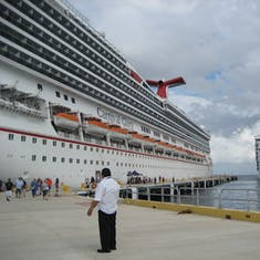 Cozumel, Mexico - Carnival Paradise coming to join us in Cozumel