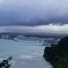 Before the rain came! Our ship.
