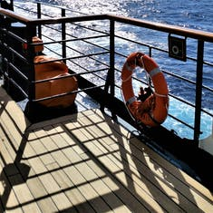 A day at sea during the crossing.