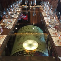 One of the worlds largest bottles of wine on display in vintages