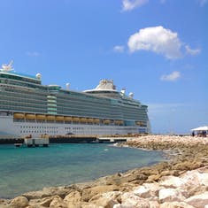 Freedom of the Seas docked at Aruba