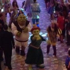 Shrek and Fiona on parade!