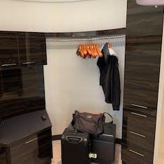 Closet in the Norwegian Breakaway Deluxe Owner's Suite (Category H2)