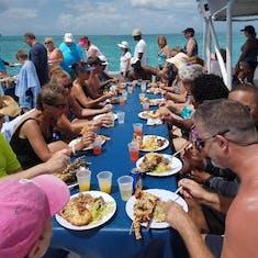 St. John's, Antigua - Catamaran and Lobster party cruise.