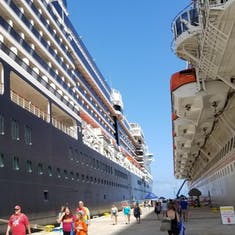 Oosterdam and Carnival Magic in Grand Turk