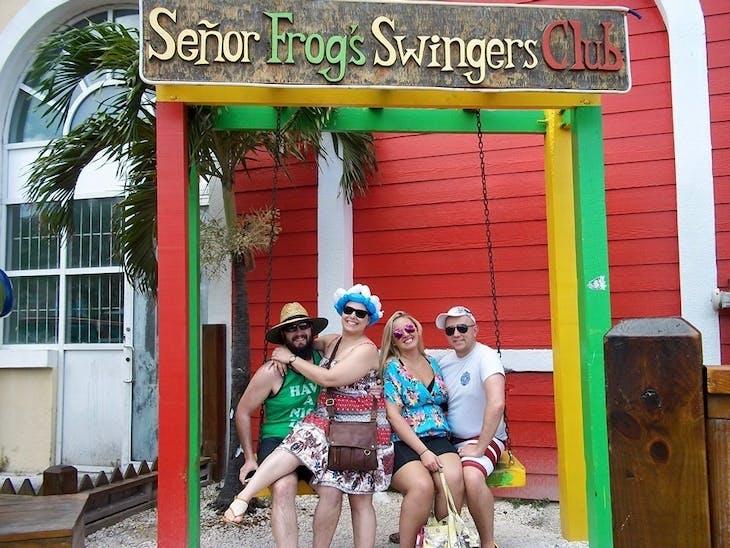 Nassau, Bahamas - Sailing party at Senior Frogs, Nassau